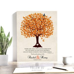 Thank You Gift For Parents | Two Lasting Bequests | Personalized | Mother of Groom | Mother of Bride | Wedding Day Custom Art Print #LT-1101