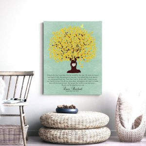 Thank You Gift | Grooms Parents | Personalized Gift | Mother of Groom | Oak Tree | Wedding Day | Parents of Groom Custom Art Print #LT-1104