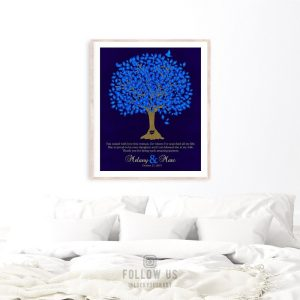 Mother of Bride Gift | Thank You Gift | Gift For Parents | Personalized | Gift From Groom | Oak Tree | Wedding Day Custom Art Print #LT-1106
