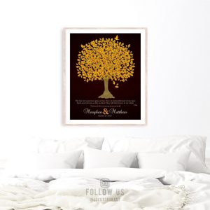 10 Year Anniversary Gift | Personalized Gift | Gift For Couple | Gift For Wife | From Husband | Love Poem | Oak Tree | Custom Print LT-1108