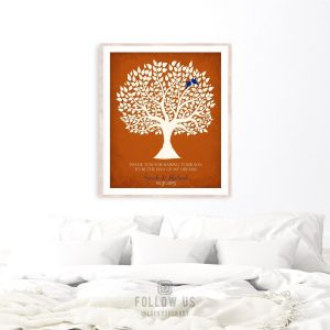 Thank You Gift From Bride | Mother in Law Gift | Mother of Groom Gift | Personalized | Wedding Day Gift | Tree Roots Custom Art Print LT1114
