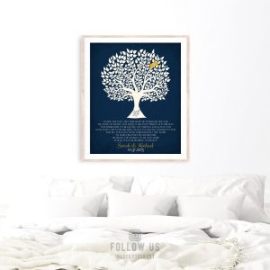 Gift From Bride | Mother of Groom Gift | Personalized | Thank You Gift | Parents of Groom Gift | Tree Silhouette | Custom Art Print #LT-1115