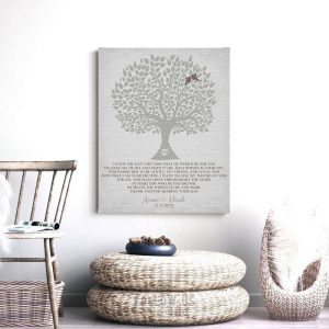 Personalized Gift | Gift For Parents | Parents of Groom | Mother of Groom | Wedding Day Gift | Tree Silhouette Poem Custom Art Print LT-1120