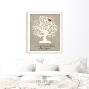 Thank You Gift For Parents | Hodding Carter Quote | Two Lasting Bequests | Wedding Day Gift | Gift From Newlyweds Custom Art Print #LT-1122