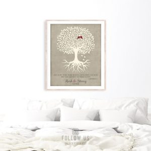 10 Year Anniversary Gift | Gift for Wife | Corinthians 13:13 | Tree with Roots | Wedding Anniversary | From Husband Custom Art Print LT-1123