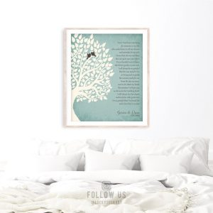 Gift From Groom to Bride's Parents | Thank You Wedding Gift | Mother of Bride Gift | Wedding Day Gift for In-Laws Custom Art Print #LT-1130