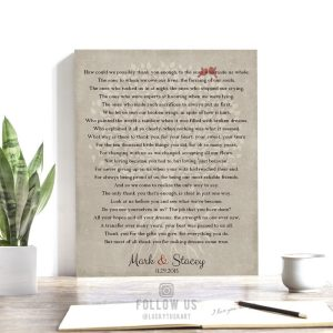 Thank You Poetry | Gift For Parents | Gift For Mom and Dad | Gift to Parents | Tree with Roots | Wedding Day Gift Custom Art Print #LT-1135
