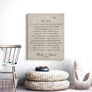 Gift From Groom to Bride | Wedding Day Gift | Gift for Bride | Bride to be Gift | Love Poem | Personalized Custom Art Print LT-1138