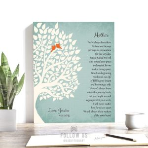 Gift For Mother | Wedding Day Gift | Gift From Daughter | Thank You Gift | Poem for Mother | From Bride to Mother Custom Art Print #LT-1139