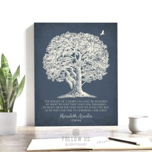 Sympathy Gift | In Memory of | Personalized Memorial Poem | Condolence Gift | Grief Poem | Funeral Gift | Oak Tree Custom Art Print LT-1146