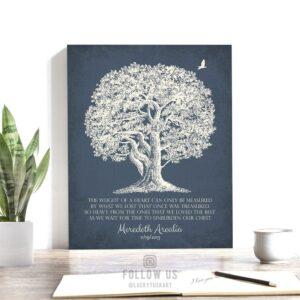 Sympathy Gift   In Memory of   Personalized Memorial Poem   Condolence Gift   Grief Poem   Funeral Gift   Oak Tree Custom Art Print LT-1146