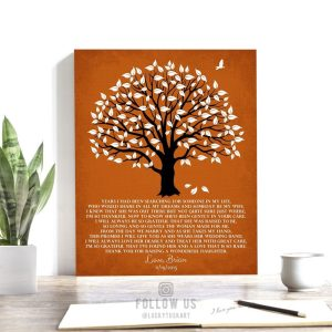 Mother In Law Gift From Groom | Thank You Gift | Brides Mother Gift | Wedding Day Gift For Parents | Magnolia Tree | Custom Art Print #LT-1151