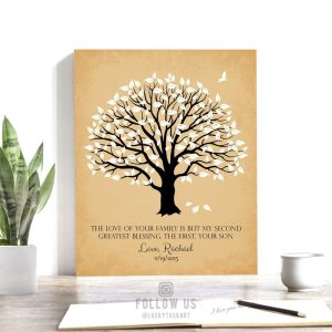 Mother of Groom Gift | Personalized Gift | Thank You | Second Greatest Blessing | Wedding Day Gift | Magnolia Tree Custom Art Print #LT-1154