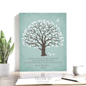 Gift to Mom From Son | Mothers Day Gift | Gift To Mother | Gift From Son | Personalized | Gift for Mom | Roots Wings Custom Art Print LT1155