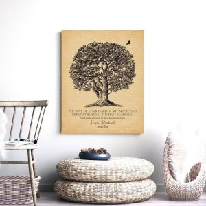 Grooms Family Gift | Second Greatest Blessing | Large Oak Tree | Gift From Bride | Wedding Gift | Mother of Groom Custom Art Print #LT-1157