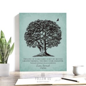 Brides Family Gift | Second Greatest Blessing | Large Oak Tree | Gift from Groom | Mother of Bride | Mother-In-Law Custom Art Print #LT-1158