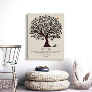 Gift for Brother | Olive You Tree | Personalized | Gift From Sister | Wedding Day Gift | Groomsman Gift Thank You Custom Art Print #LT-1162