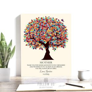 Gift For Mother | Thank You Gift | Giving Me Roots | Personalized Gift For Mom | Mother's Day Gift | Colorful Tree Custom Art Print #LT-1165