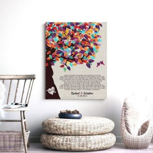 Mother of Bride Gift | Bride's Parents Gift | Gift From Groom | Thank You Poem | Colorful Tree | Wedding Thank You Custom Art Print #LT-1170