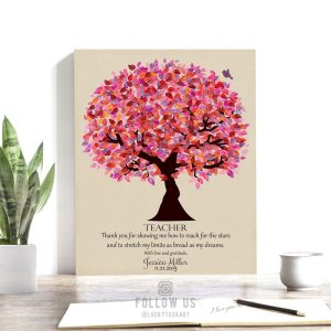 Gift For Teacher | End of School Year Gift | Personalized | Thank You Gift | Principal Gift | Teacher Appreciation Custom Art Print #LT-1173