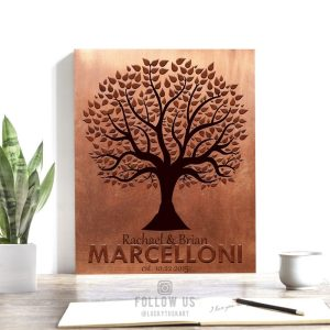 22nd Anniversary | Personalized Gift | Family Tree | 7 Year Anniversary | Faux Copper Gift | Established Date 10 Year Anniversary Gift #1181