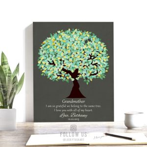 Gift For Grandmother | Grandmother Gift | Grandparent Gift | Grandparents Day | Gift for Grandma from Grandchildren Custom Art Print #1185