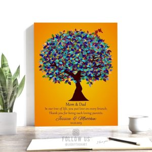 Gift for Mom and Dad | Gift for Parents | Parents Day Gift | Thank You Gift | What to Get Mom for her Birthday | Custom Art Print #1186