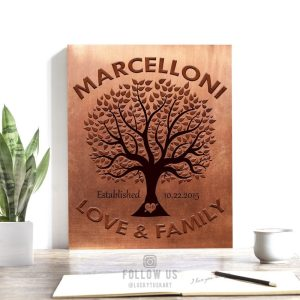 7th Anniversary Gift | Copper Anniversary | Personalized | Love and Family | 7 Year Anniversary | 22nd Anniversary Custom Art Print #1187