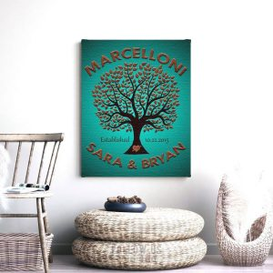 10 Year Anniversary | Personalized Gift | 10th Anniversary | Gift for Couple | Family Tree | Established | Love And Family Custom Art #1188