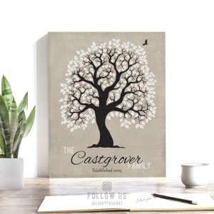 10 Year Anniversary | Personalized | Family Tree | Ten Year Anniversary | Tin Anniversary | Gift For Husband | From Wife Custom Art #1200