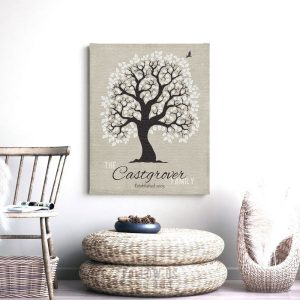 10 Year Anniversary   Personalized   Family Tree   Ten Year Anniversary   Tin Anniversary   Gift For Husband   From Wife Custom Art #1200