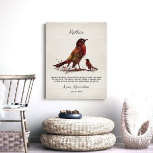Thank You Gift For Mom   Two Lasting Bequests   Give Me Roots   Wings to Fly   Mother's Day   Gift From Daughter or Son Custom Art #1218