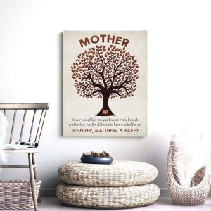 Gift For Mom | Gift From Children | You Put Love on Every Branch | Gift From Kids | Gift to Mother | Mothers Day Gift Custom Art #1221