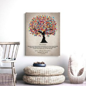 Graduation Gift For Mom, Thank You Mom, College Graduation, Personalized Gift, Gift From Daughter, Gift From Graduate, Custom Art #1223