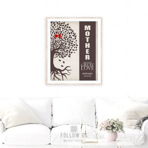 Mother With Great Love Personalized Birds Family Tree Gift For Mother's Day Thank You Mom #1226
