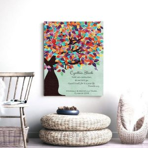Proverbs 4:13 Personalized Watercolor Tree Gift For Teacher Professor Principal Custom Art Print #1230