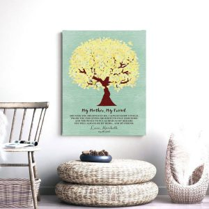 My Mother My Friend Believed In Me Personalized Family Tree Gift For Mother's Day Thank You Mom #1238
