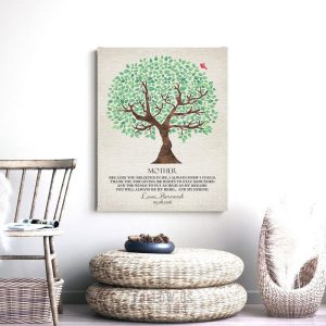 Personalized Gift For Mom Roots Wings Mother's Day Gift Thank You Birthday Mum Custom Art Print #1243