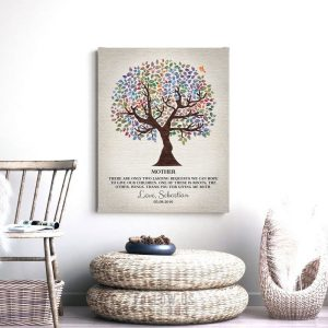 Two Lasting Bequests Quote Personalized Gift For Mother's Day Watercolor Tree Gift From Son Custom Art Print #1247