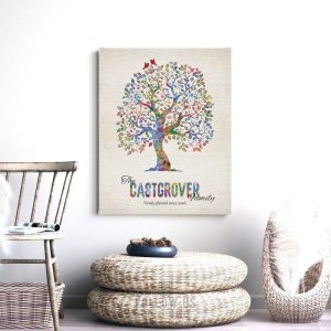 Personalized Family Tree Firmly Planted Gift For Wedding Anniversary Mother's Day Dad Custom Art Print #1249