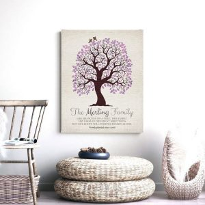Personalized Family Tree of Life Roots Remain As One Gift For Mother's Day Gift for Mom Custom Art Print #1251