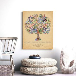 Mother of Bride Personalized Gift From Groom Wedding Tree You Raised With Love This Woman Custom Art Print 1259