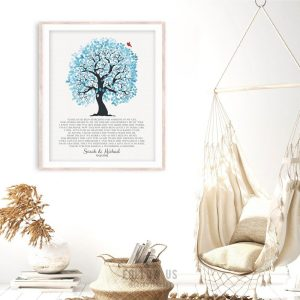 Years I had Been Searching Blue And White Wedding Tree Personalized Gift For Mother Of Bride Custom Art Print #1267