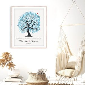 You Raised With Love Personalized Blue And White Wedding Tree Thank You Mother of Groom Custom Art Print #1271