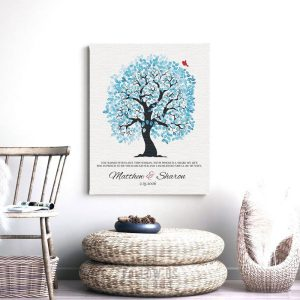 Years I had Been Searching Blue And White Wedding Tree Personalized Gift For Mother Of Bride Custom Art Print #1272