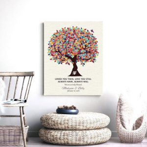 Loved You Then Love You Still Always Have Colorful Wedding Tree Personalized Tin 10 Year Anniversary Gift #1284