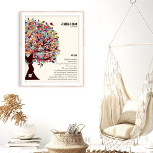 My Love Poem Together We Planted Wedding Tree Spring Colors Personalized Tin 10 Year Anniversary Gift #1285