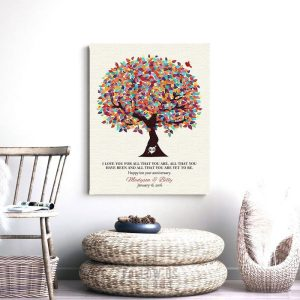 I Love You For All That You Are Yet To Be Spring Wedding Tree Personalized Tin 10 Year Anniversary Gift #1293