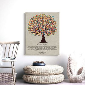 Our Hearts Are Filled With Joy Personalized Gift Graduation Day Tree Gift From Mom and Dad Custom Art Print #1309