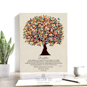 Your Desire To Achieve Poem Personalized Gift For Graduation From Parents Gift Daughter Custom Art Print #1310